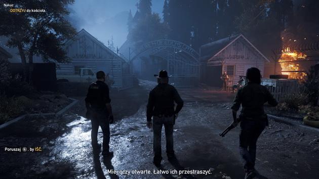 Far Cry 5 - wejście do siedziby kultu
