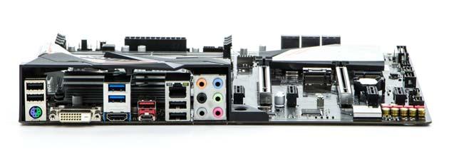 Gigabyte H370 Aorus Gaming 3 Wi-Fi - tylny panel