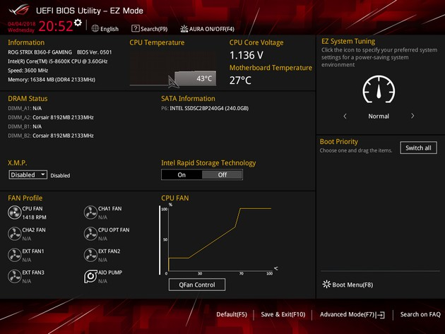 ASUS ROG STRIX B360-F Gaming - UEFI BIOS