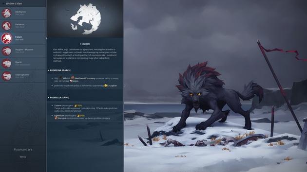 Northgard - opis bonusów klanu wilka