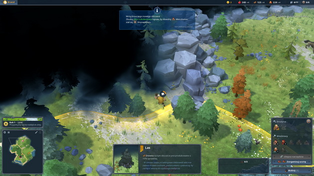 Northgard - zwiadowca rozpoznaje nowy teren