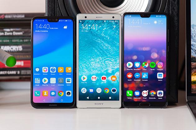 Huawei P20 Lite vs Sony Xperia XZ2 vs Huawei P20 Pro