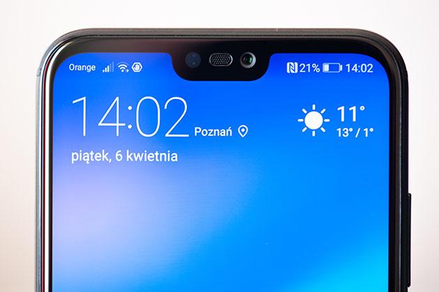 Huawei P20 Lite - notch - wcięcie w ekranie