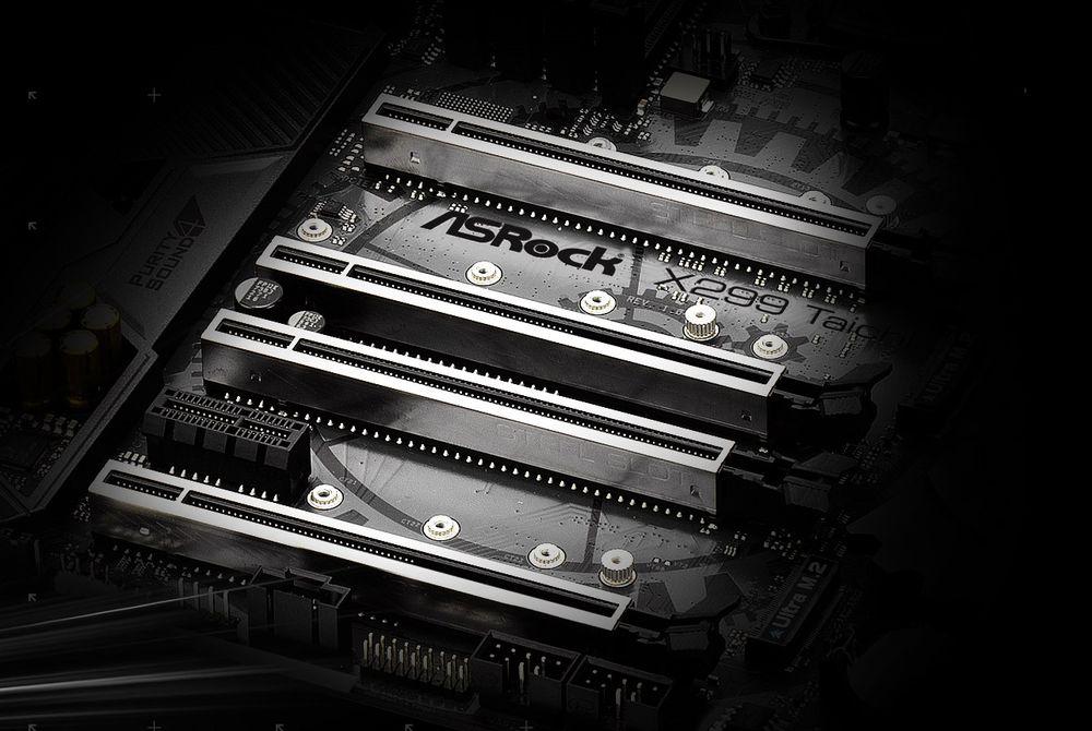 ASRock X299 Taichi - wzmocnione sloty PCI-Express