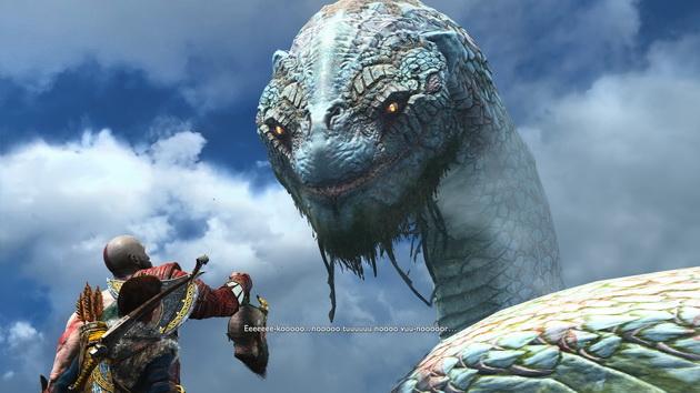 God of War - rozmowa z wężem świata