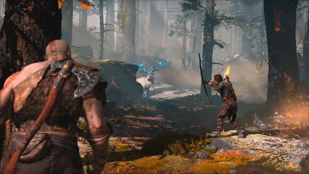 God of War - polowanie na jelenia