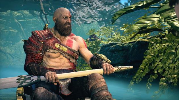 God of War - Kratos na łodce