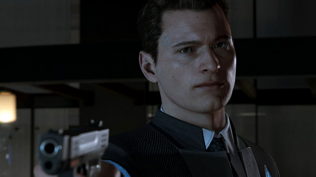 Detroit: Become Human - Connor z pistoletem