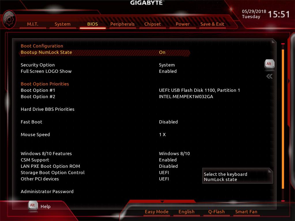 Gigabyte Z370 HD3-OP - UEFI BIOS