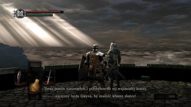 Dark Souls: Remastered - rozmowa z nieumarłym