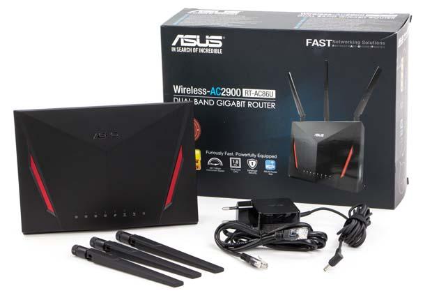 Asus RT-AC86U zestaw