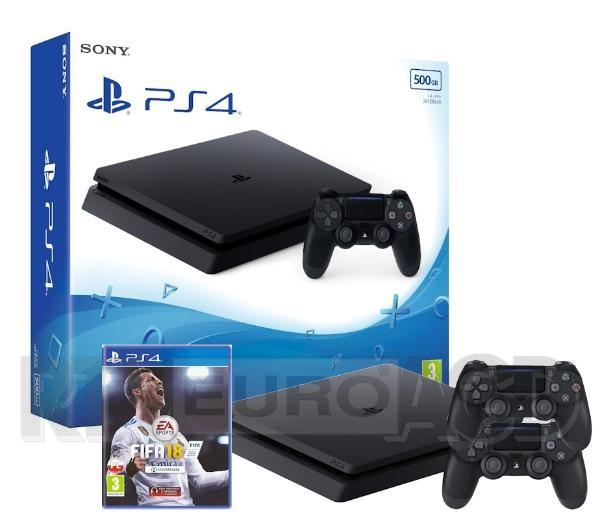 Gramy z RTV Euro AGD - Playstation 4 + Fifa 18 + 2 gamepady