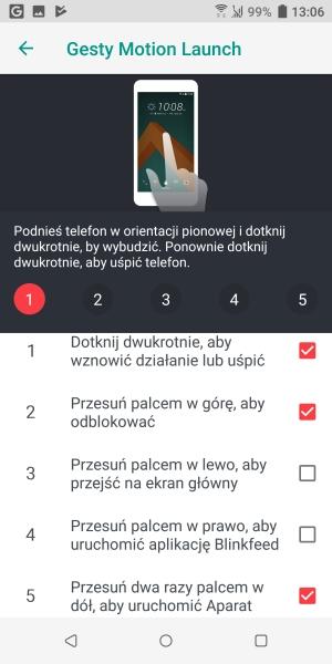 HTC U12+ gesty