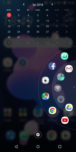 HTC U12+ panel szybkiego dostępu