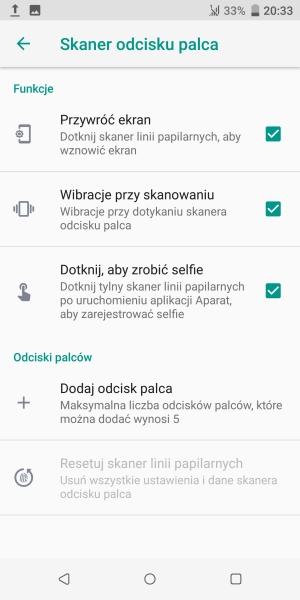 HTC U12+ czytnik