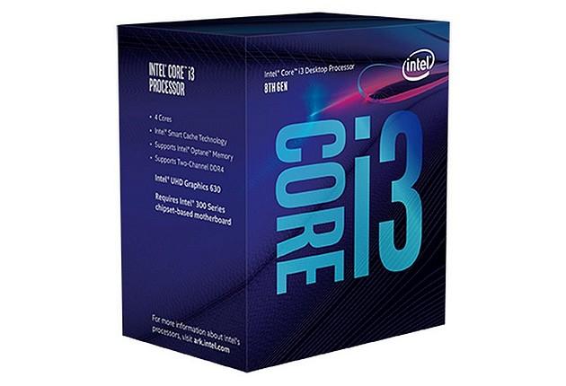 Pudełko procesora Intel Core i3 8-mej generacji