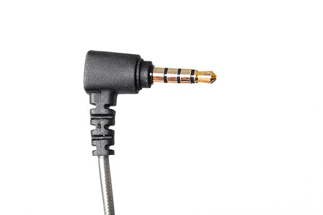 MEE Audio X1 - wtyk kątowy, pozłacany