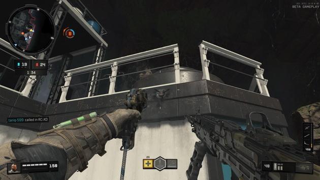 Call of Duty: Black Ops 4 beta - linka z hakiem w działaniu