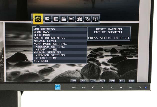 NEC MultiSync EA271F menu OSD