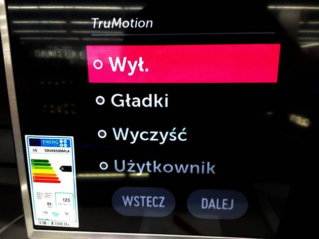 LG 50UK6500 - true motion