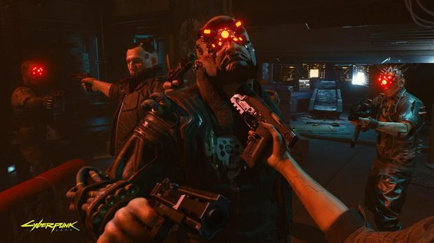 Cyberpunk 2077 - przeciwnik na muszce