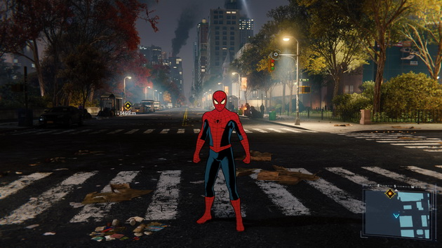 Spider-Man - rysunkowy kostium Spider-Mana