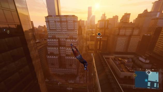 Spider-Man - bujanie się na pajęcznie