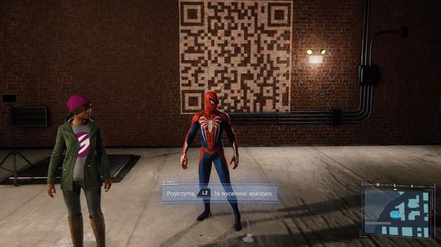 Spider-Man - szukanie QR kodów