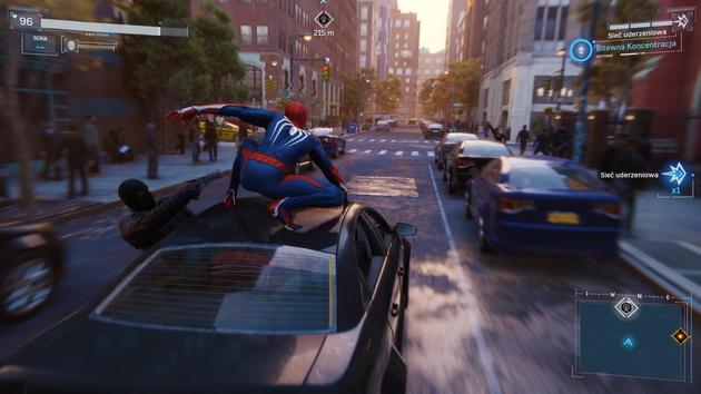 Spider-Man - pościg za samochodem