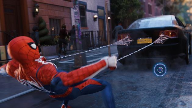 Spider-Man - łapanie samochodu (QTE)