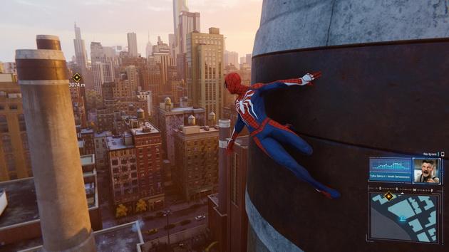 Spider-Man - przyklejony do ściany