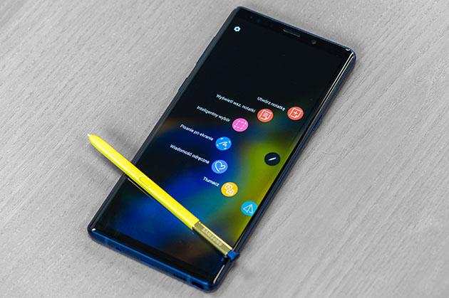Samsung Galaxy Note 9 - aktywne piórko S Pen