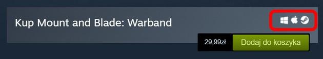 Steam - wersje gier