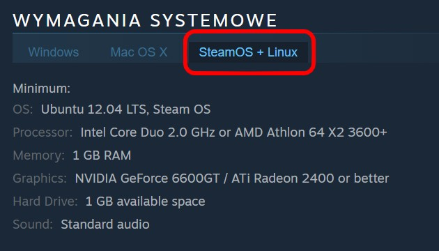 Steam - wymagania Linux