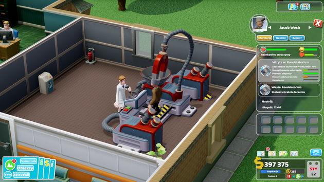 Two Point Hospital - zdejmowania garnka