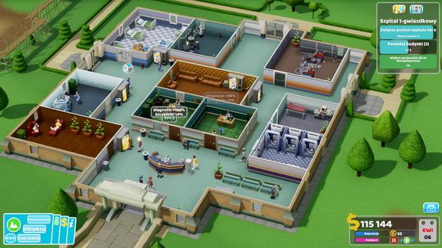 Two Point Hospital - sprawnie działający szpital