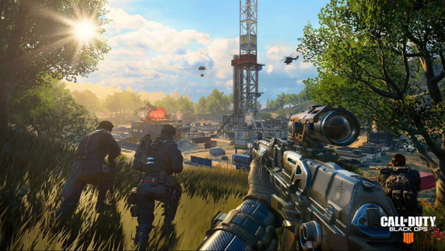 Call of Duty: Black Ops 4 Blackout - drużyna na wzgórzu