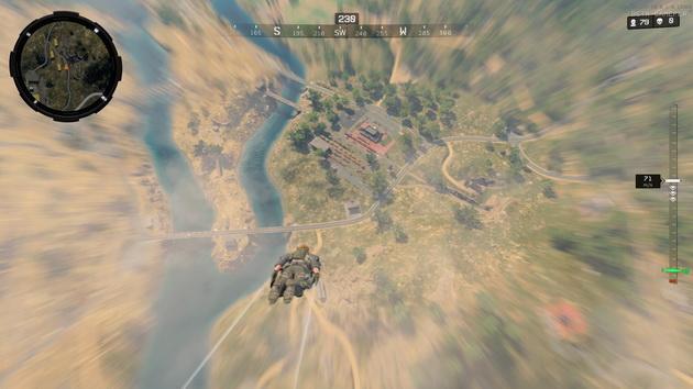 Call of Duty: Black Ops 4 Blackout - szybowanie ku ziemi