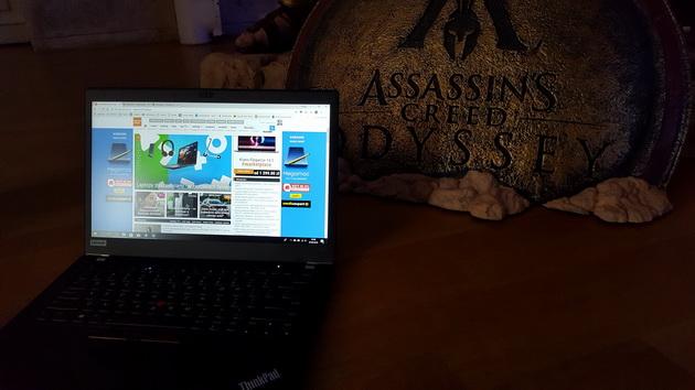 Lenovo ThinkPad T480s - na pokazie Assassin's Creed Odyssey