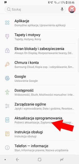 Aktualizacja Samsunga
