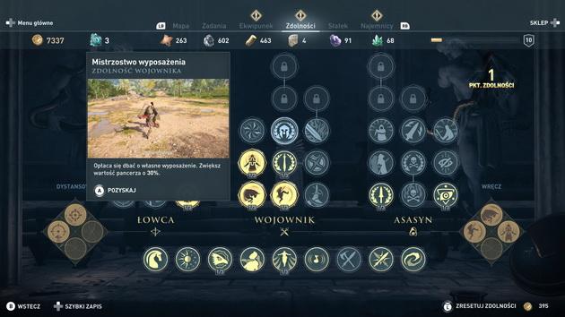 Assassin's Creed Odyssey - drzewko umiejętności