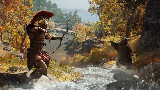 Assassin's Creed Odyssey - walka z niedźwiedziem