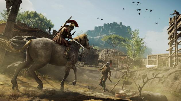 Assassin's Creed Odyssey - atak na koniu