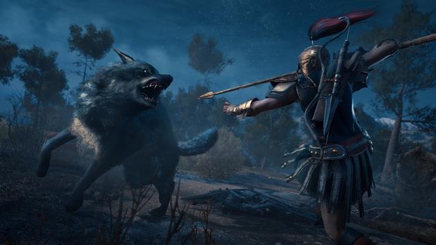 Assassin's Creed Odyssey - walka z wilkiem
