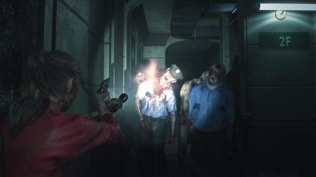 Resident Evil 2 - strzelanie znad ramienia