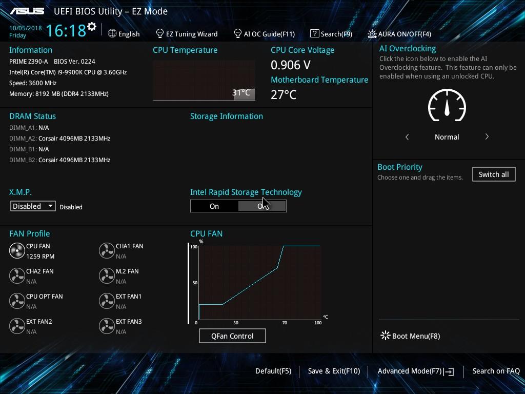 ASUS Prime Z390-A - UEFI BIOS