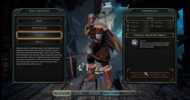 The Bard's Tale IV - archetyp wojownika