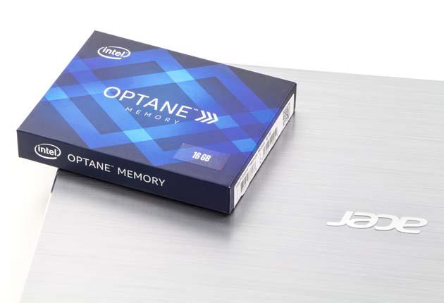 Pudełko Intel Optane Memory