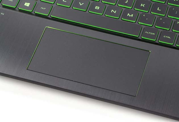 HP Pavilion Gaming 15-cx0006nw touchpad