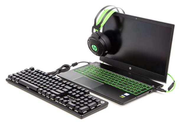 HP Pavilion Gaming 15-cx0006nw słuchawki klawiatura